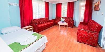 aile apartımızın oturma odası ve yatağı