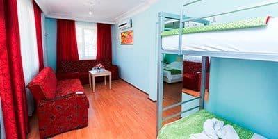 Alanya Nehir apart otel yatakları